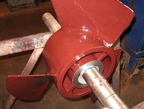 Impeller also coated with Belzona 4311 (Magma CR1) to provide sulphuric acid protection
