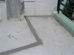 Completed joint repair using Belzona 4521 (Magma-Flex Fluid)